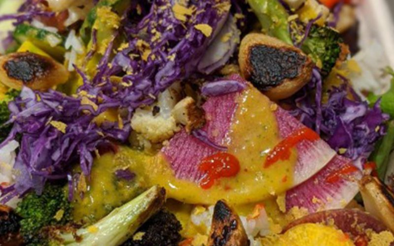 Sweet & Spicy Garlic Jasmine Rice Bowl